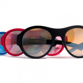 MYKITA & Moncler eywear inspired by the look of 1950s Alpine goggles