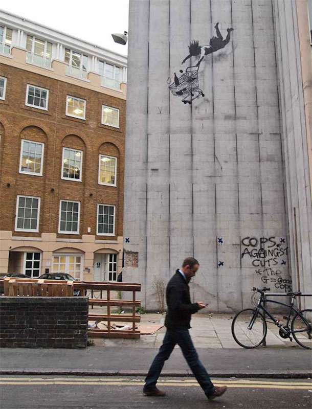 Wall painting by Banksy