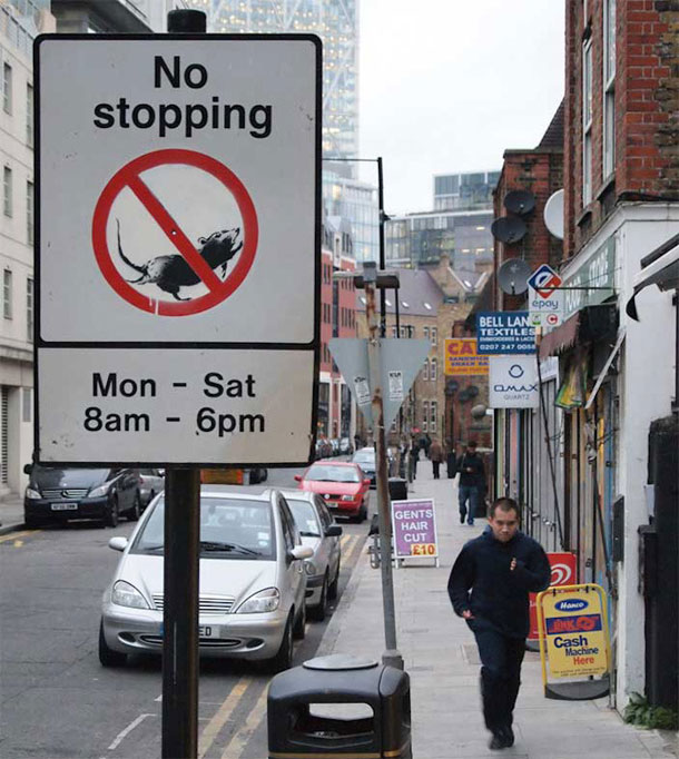 Street sign by Banksy