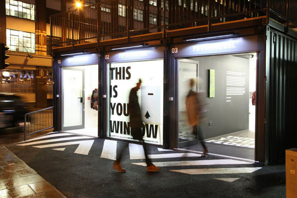 Pop-up mall Boxpark in Shoreditch