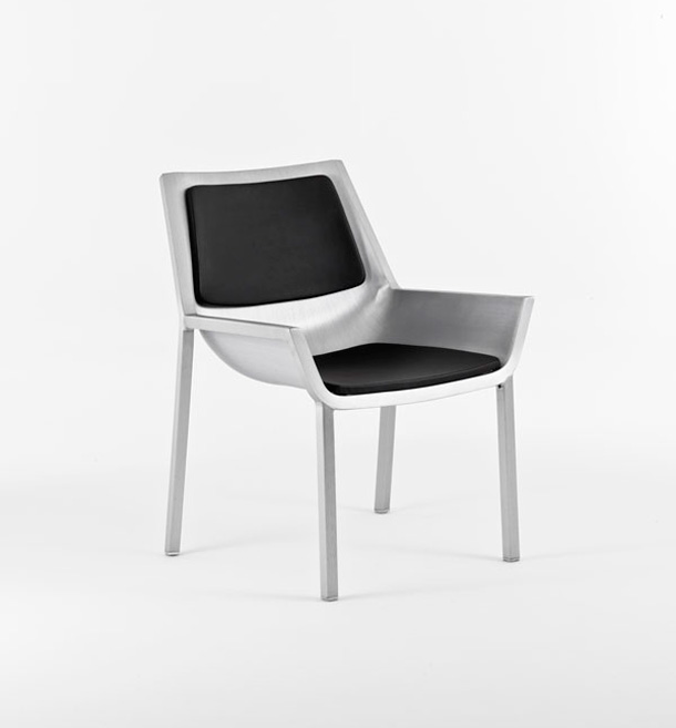 Upholstered Sezz chair by Christophe Pillet for Emeco