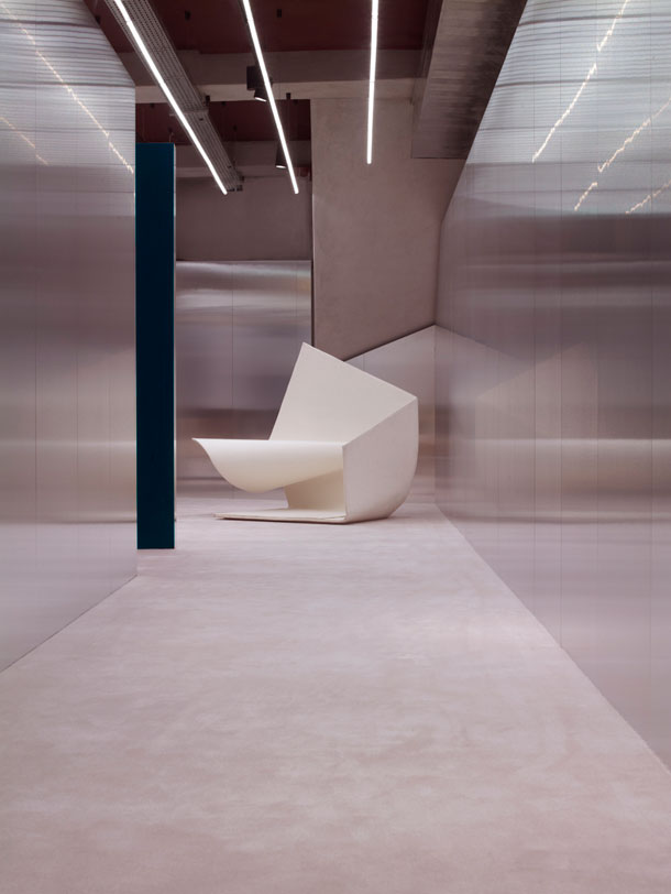 Interior of Acne studio in Paris by Andreas Fornell