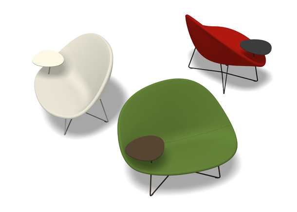 Animation of easy chair