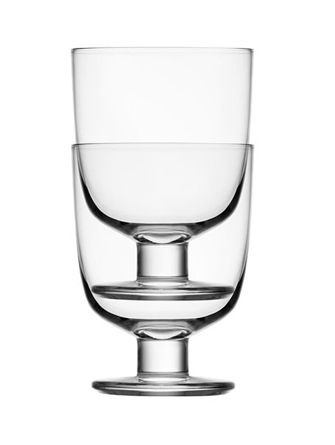 Two stacked Iittala glasses