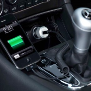 High-performance in-car charger for iPhone, iPad and other USB-powered devices