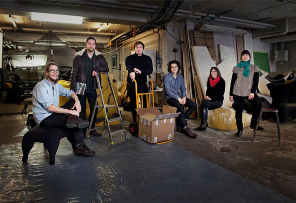 Designers at the exhibition that takes place during Stockholm Design Week