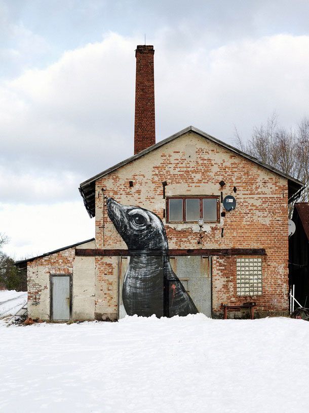 Art by urban artist ROA