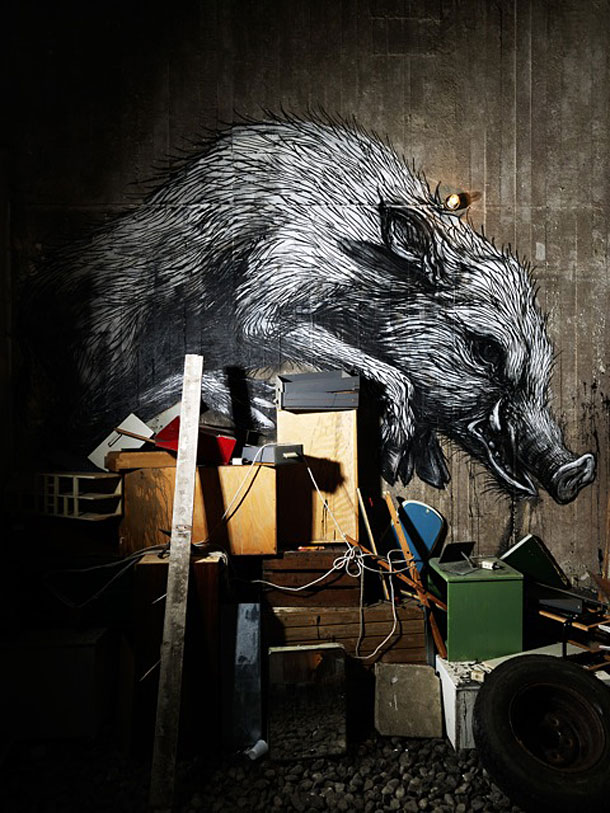 Work by urban artist Roa