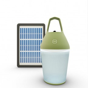 Portable rechargeable solar lamp