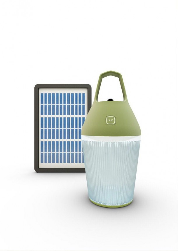 A portable solar lamp