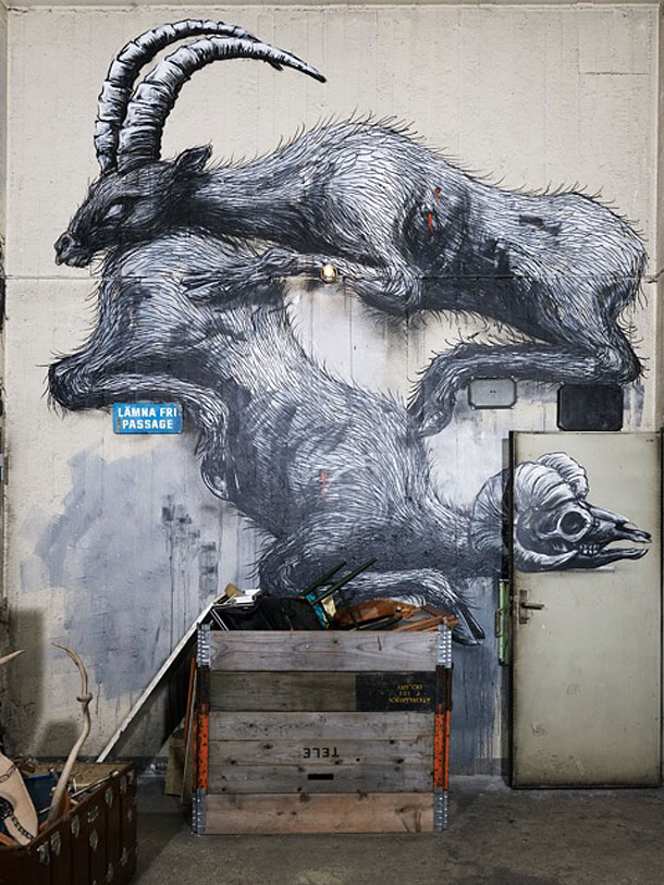 From the show Defragmentation by Roa