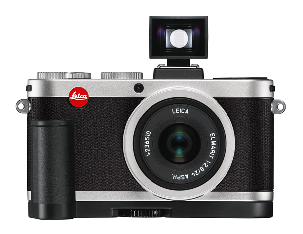 Leica X2 from the front with viewfinder