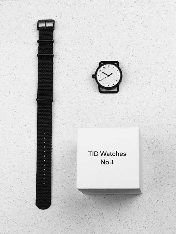 Packaging of the TID watch