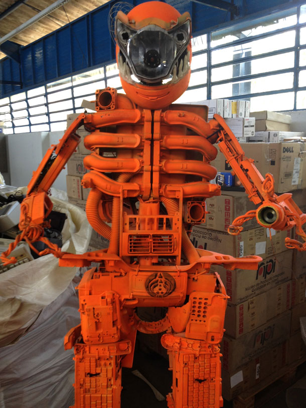 Robot made by waste