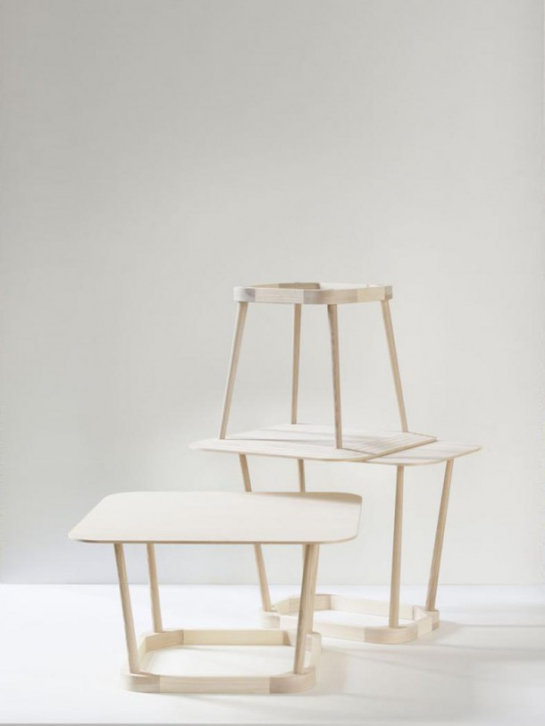 Upside Down tables by TAF for Hay