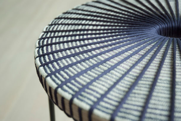 Detail of stool by Time to Design winner Catherine Aitken