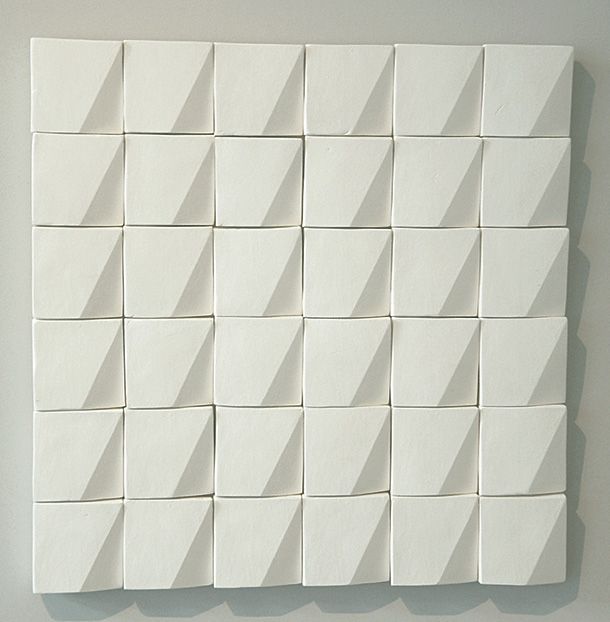 Reliefe wall tile by Eva Kai Larsen