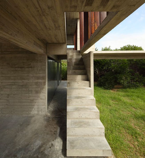 Concrete used in architecture