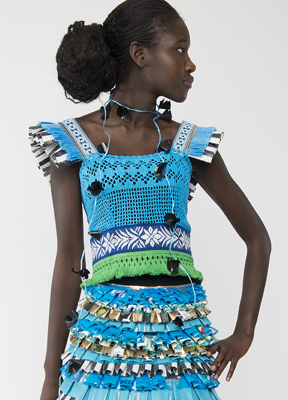 Dress made out of trash