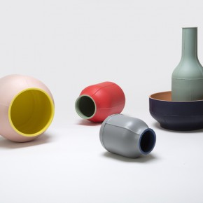 Ceramic centerpieces by Benjamin Hubert