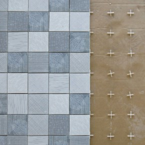 "Collection of tiles ""Tratti"" by Inga Sempe for Mutina"
