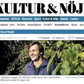 Article in Sweden's biggest morning paper DN