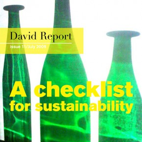 New David Report bulletin - A checklist for sustainability