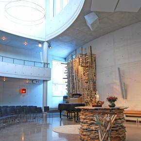 A church built of recycled materials