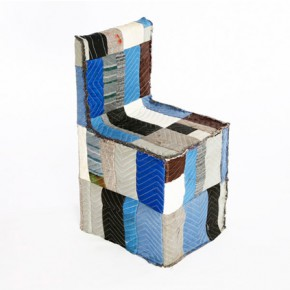 A chair by Chris Rucker made of modest materials