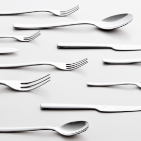 Stainless steel flatware designed by Ronan and Erwan Bouroullec for Alessi