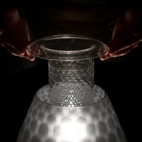Traditional glass working techniques adapted to contemporary lighting