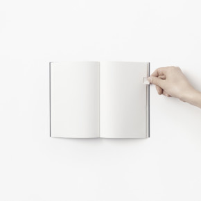 Tactile and smart notebook by Nendo for smaller objects